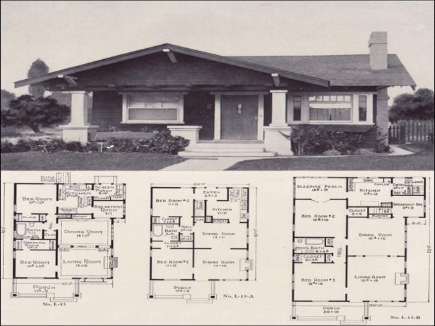 1920's Craftsman Bungalow house plans