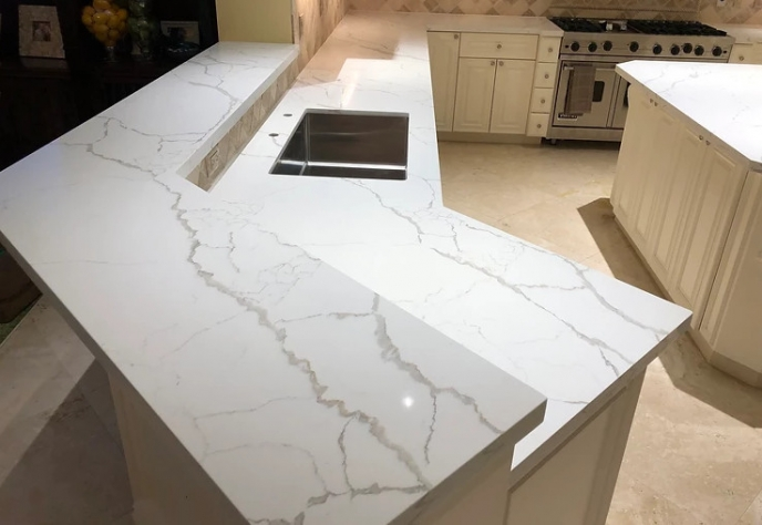 Calacatta Laza Quartz Material Features for Modern House Interior Design